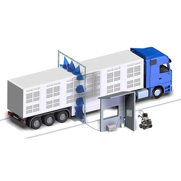 Soluciones de Sanitizacion Con Arcos de  Desinfeccion Vehiculos Buses Camiones